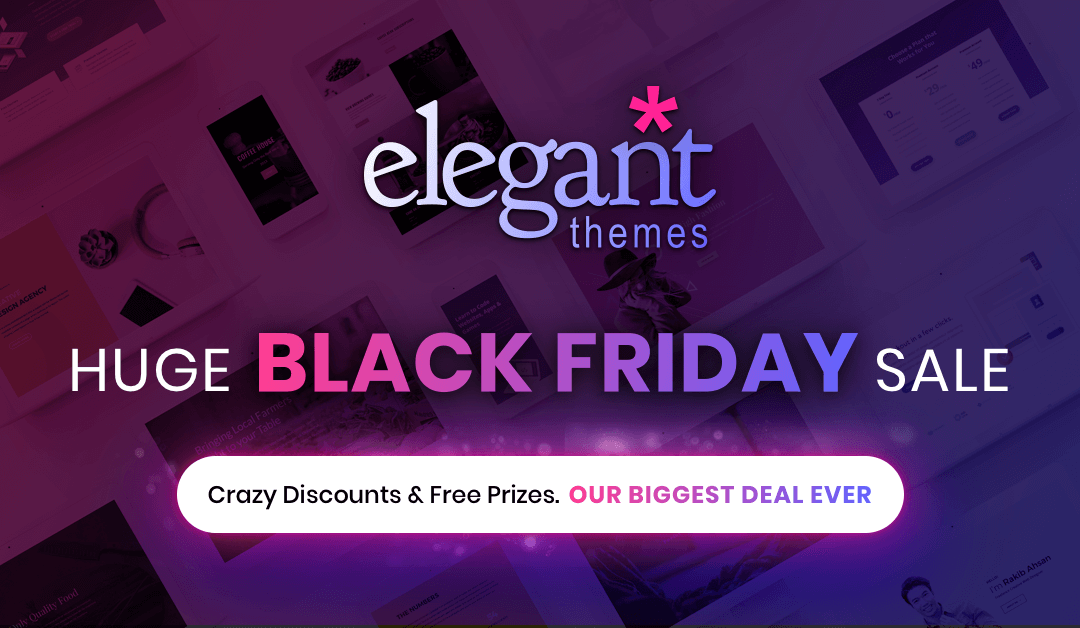 Elegant Themes Black Friday 2017