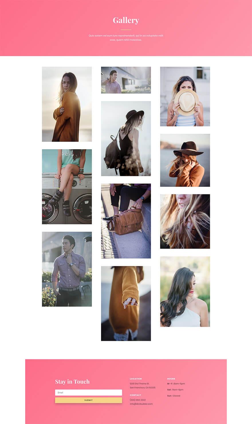 Šablona fashion #6