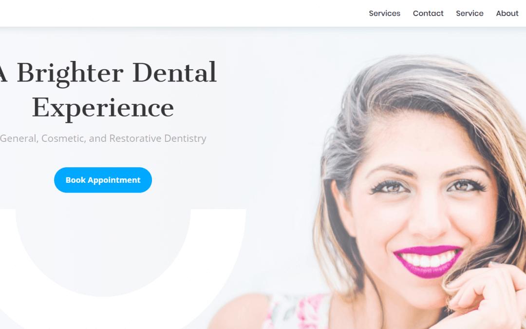Divi: Předpřipravený vzhled pro web pro dentisty (včetně obrázků) zdarma ke stažení