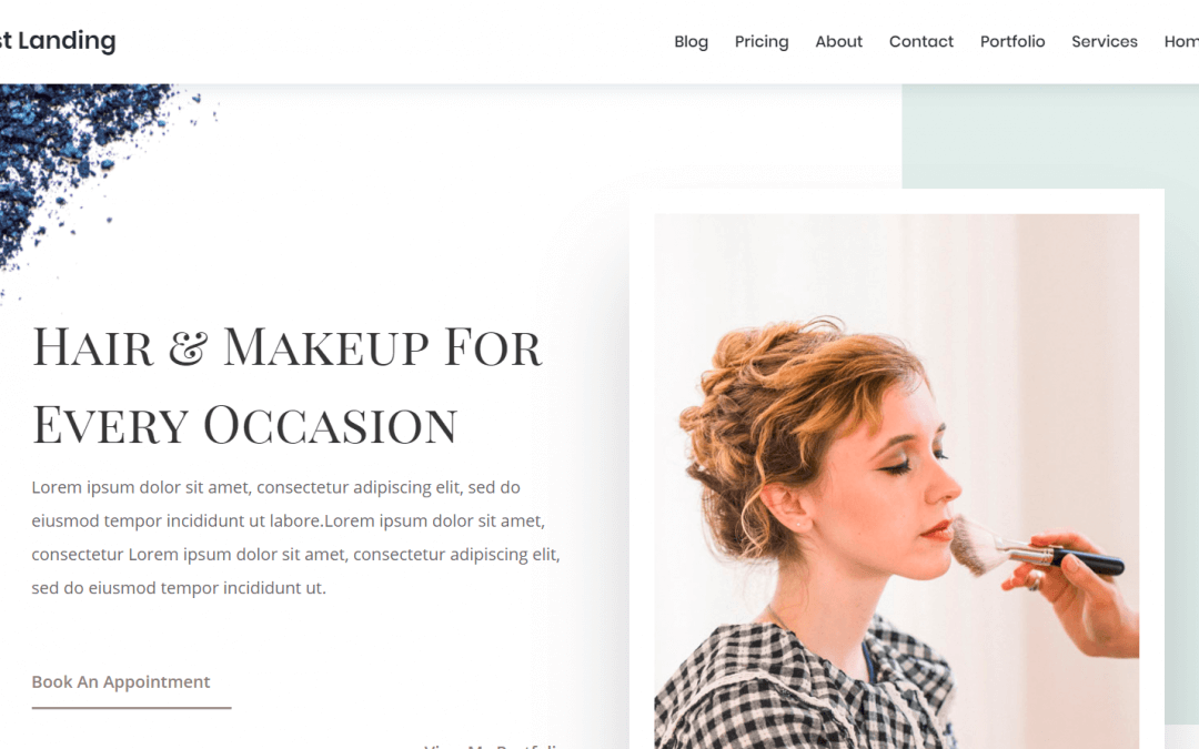 Divi: Předpřipravený vzhled pro web o makeupu, kráse či zdraví (včetně obrázků) zdarma ke stažení