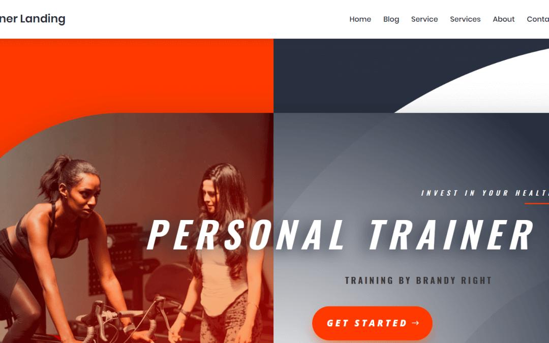 Divi: Předpřipravený vzhled pro webové stránky osobního trenéra (včetně obrázků) zdarma ke stažení