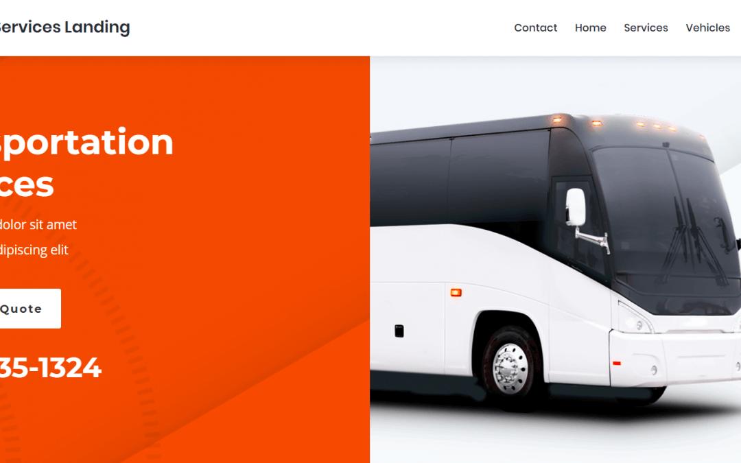 Divi: Předpřipravený vzhled pro webové stránky dopravce (včetně obrázků) zdarma ke stažení