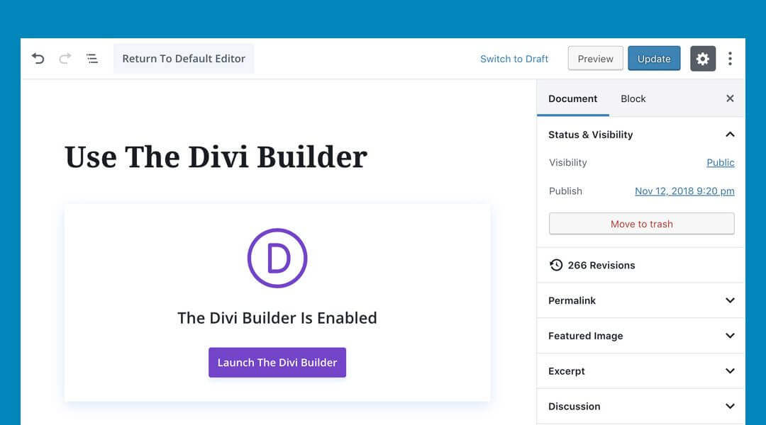 Divi a WordPress 5.0