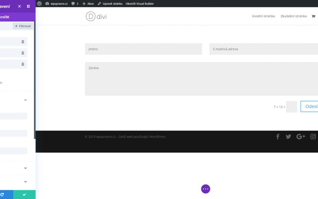 Divi Modul: Kontaktní formulář