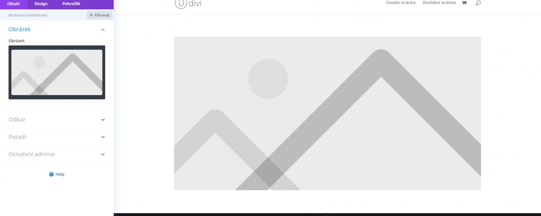Nastavení modulu Obrázek