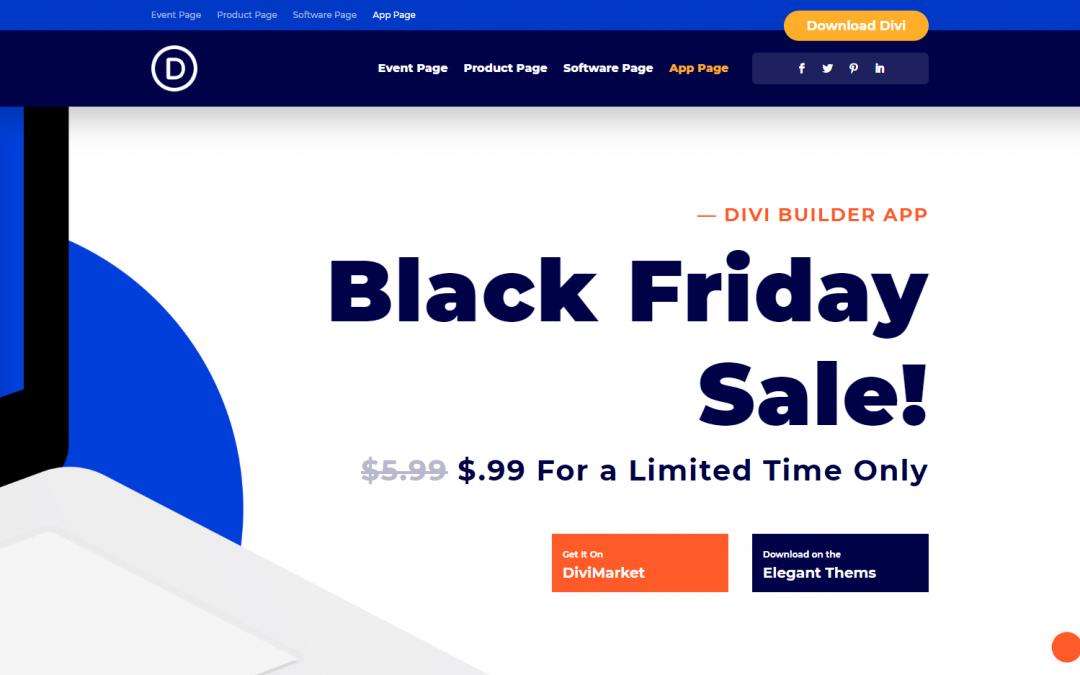 Exkluzivní designy vstupních stránek z Black Friday 2019