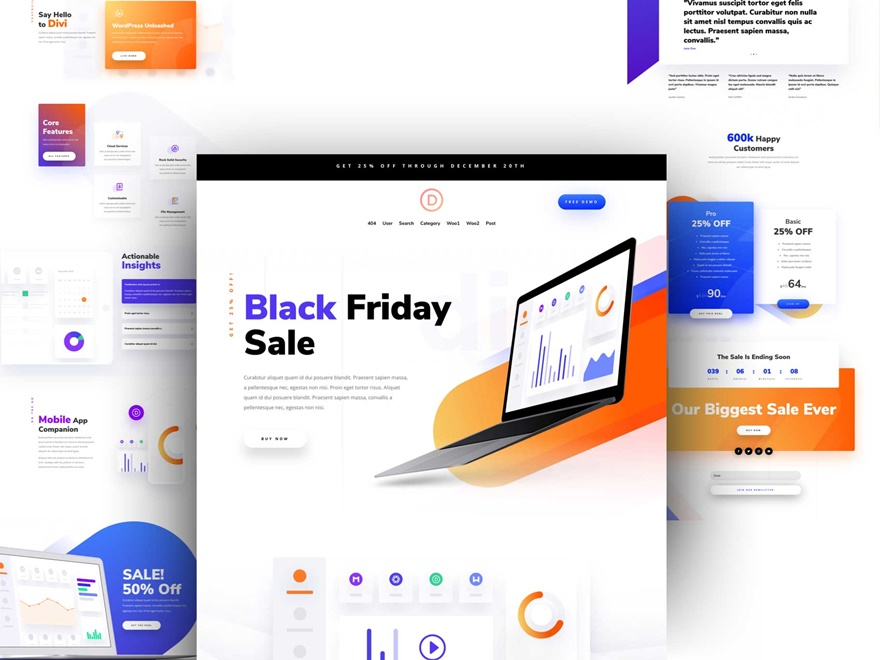 Software Landing Page Layout
