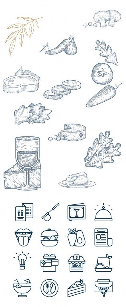 Balíček ilustrací a ikonek zdarma