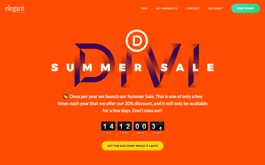 Divi Summer Sale 2020