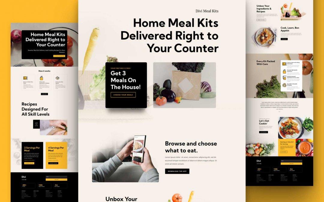 Divi: Předpřipravený vzhled webu balíček ingrediencí (včetně obrázků) zdarma ke stažení